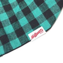 Load image into Gallery viewer, Dog Bandana  - Green Buffalo Plaid