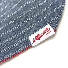 Load image into Gallery viewer, Dog Bandana  - Indigo Herringbone Stripe Chambray