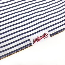 Load image into Gallery viewer, Dog Bandana  - White with Navy Stripes