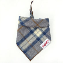Load image into Gallery viewer, Dog Bandana  - Ash Plaid Flannel