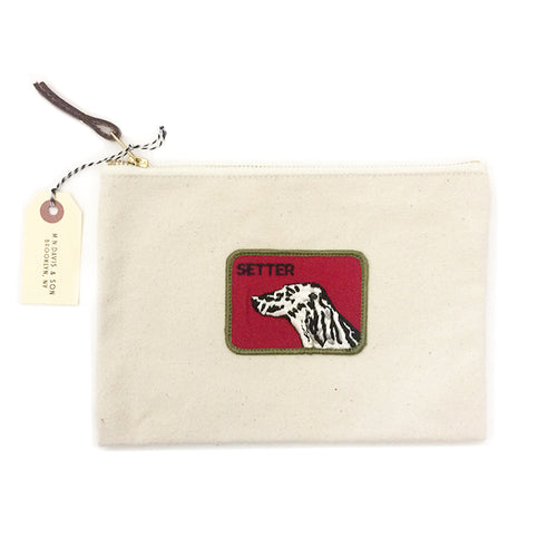 Vintage Dog Breed Pouch - Setter