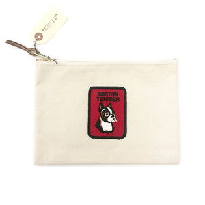 Vintage Dog Breed Pouch - Boston Terrier
