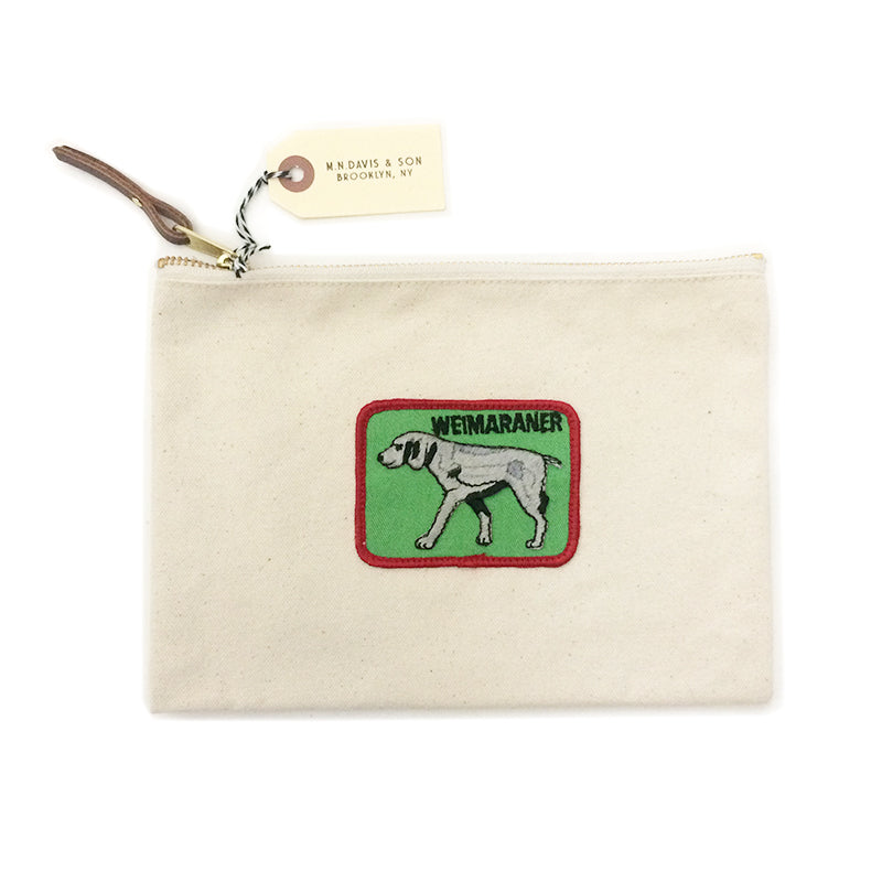 Vintage Dog Breed Pouch - Weimaraner