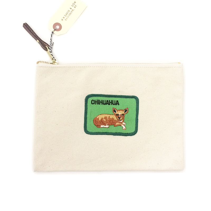 Vintage Dog Breed Pouch - Chihuahua