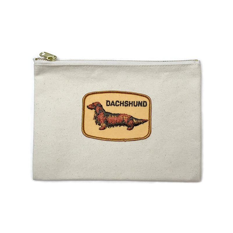 Vintage Dog Breed Pouch - Brown Dachshund