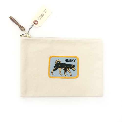 Vintage Dog Breed Pouch - Husky
