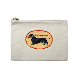 Vintage Dog Breed Pouch - Black Dachshund