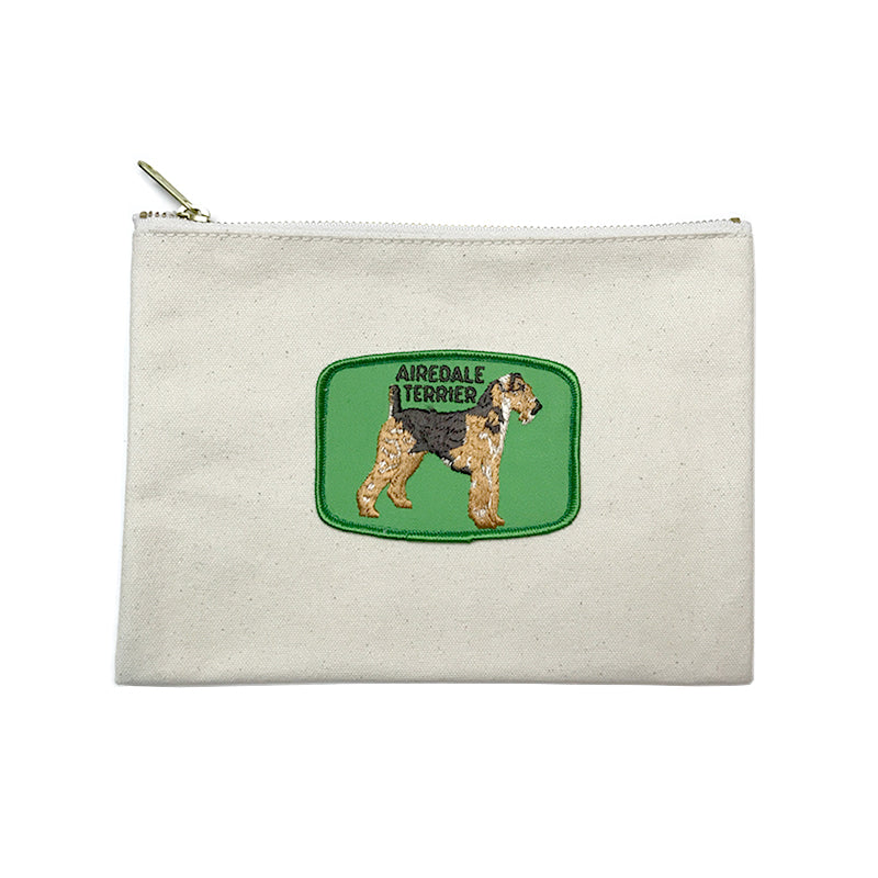 Vintage Dog Breed Pouch - Airedale Terrier