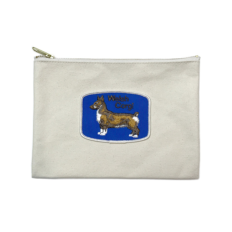 Vintage Dog Breed Pouch - Welsh Corgi