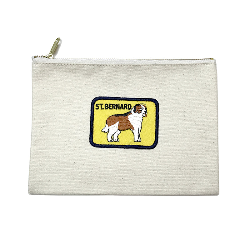 Vintage Dog Breed Pouch - Saint Bernard
