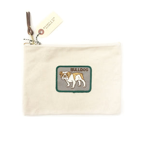 Vintage Dog Breed Pouch - Bulldog