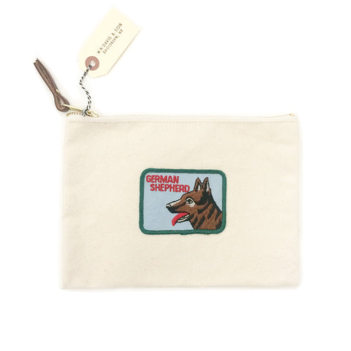 Vintage Dog Breed Pouch - German Shepherd