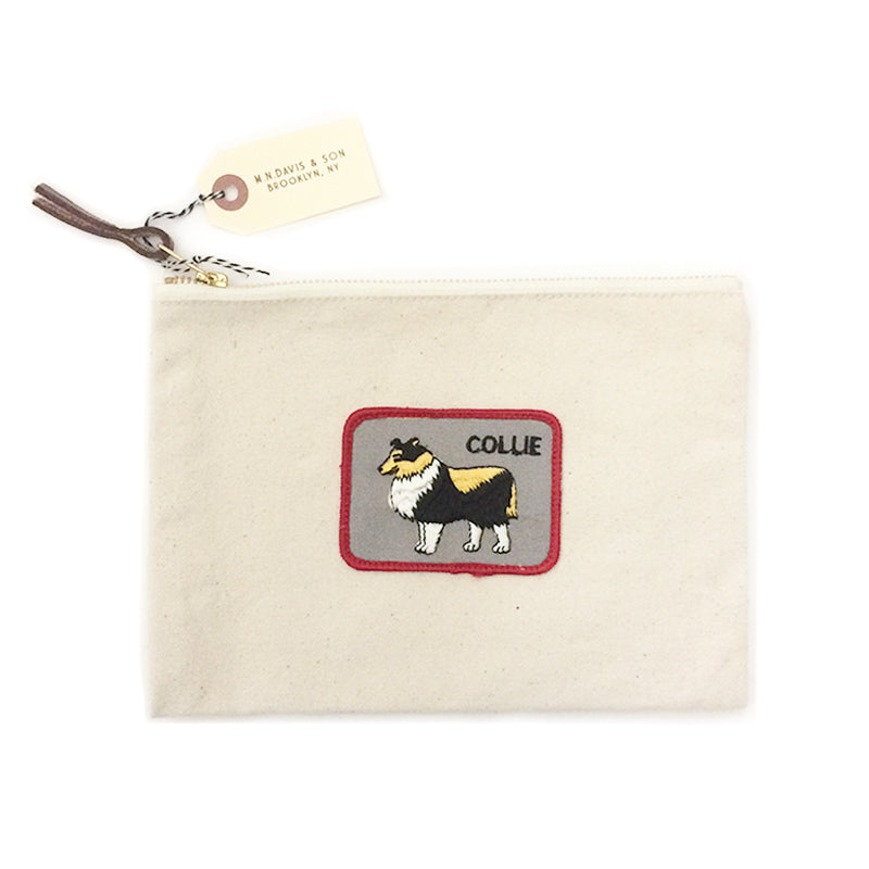 Vintage Dog Breed Pouch - Collie