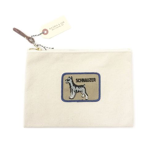 Vintage Dog Breed Pouch - Schnauzer