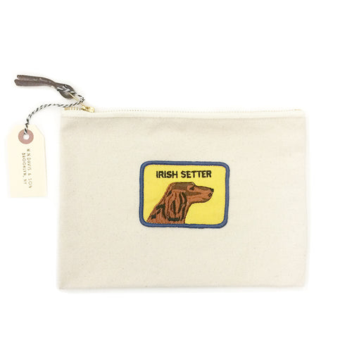 Vintage Dog Breed Pouch - Irish Setter