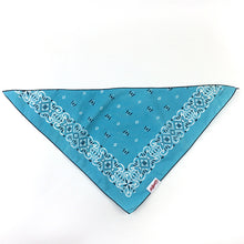 Load image into Gallery viewer, Dog Bandana  - Vintage Aqua