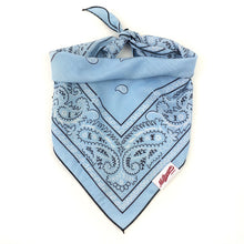 Load image into Gallery viewer, Dog Bandana  - Vintage Sky Blue