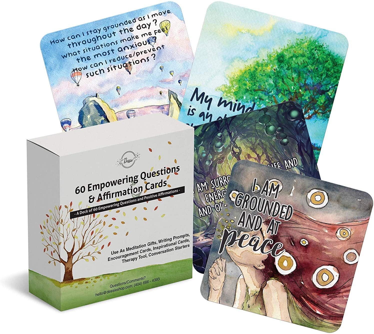 60 Affirmation Cards with Thought Provoking Empowering Questions.