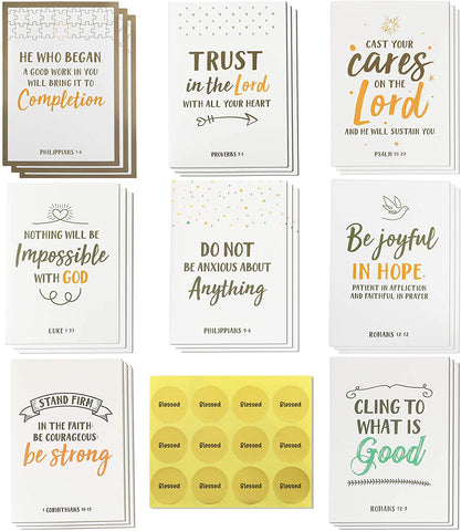 Dessie Prayer Cards - 60 Mini Scripture Cards with Assorted Bible Verses