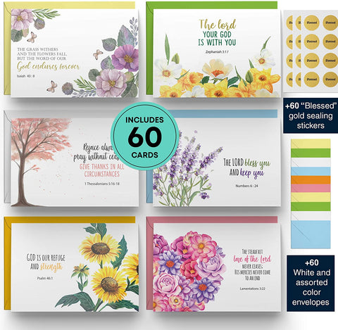 Dessie Bible Verse Cards - 60 Unique Scripture Cards