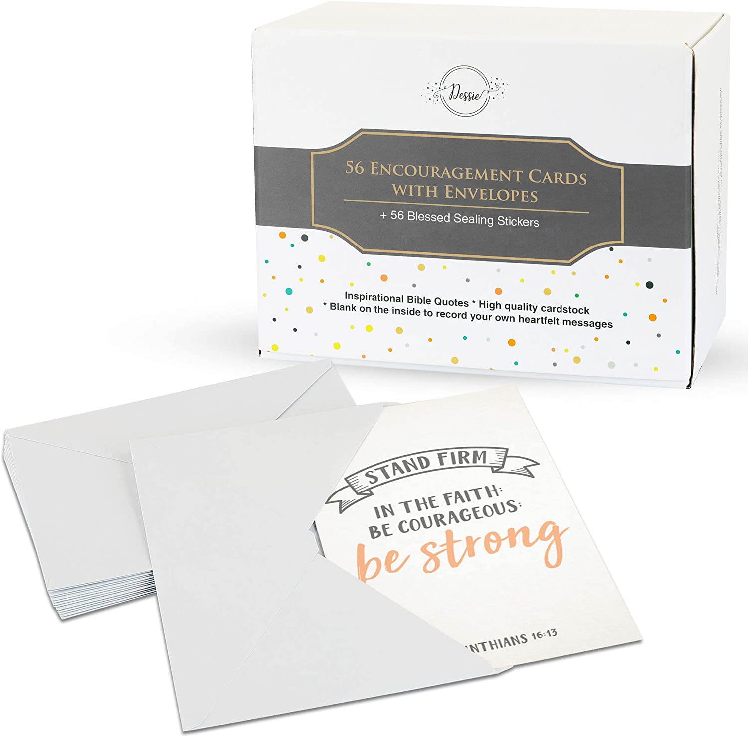 Dessie 56 Pack Inspirational Bible Verse Cards with Envelopes