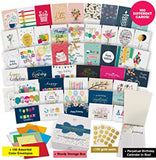 Dessie 100 Unique Birthday Cards Assortment with Greetings Inside