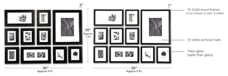 solid wood frames with mats photos