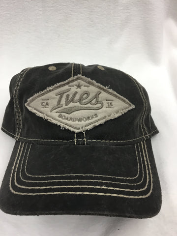 Leather Look Ives New Vintage Diamond Logo Patch Hat