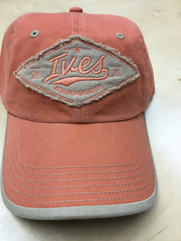 Whitewashed New Vintage Ives Diamond Patch Hat