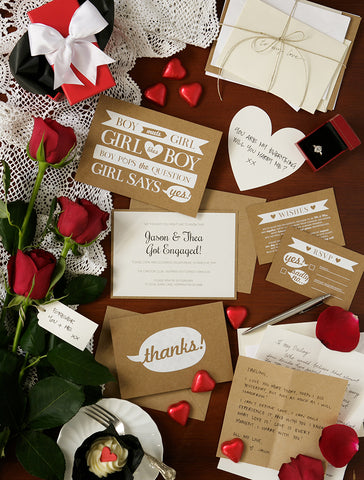 Alex Mae - Fun Engagement Invitations