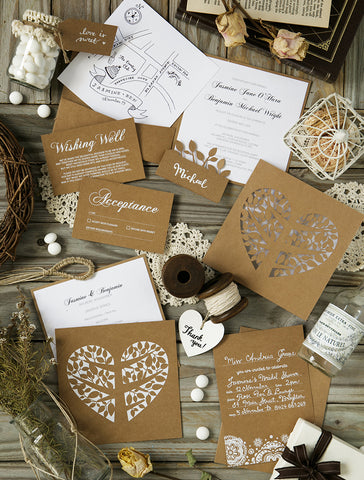 Alex Mae - Rustic Vintage Wedding Invitations