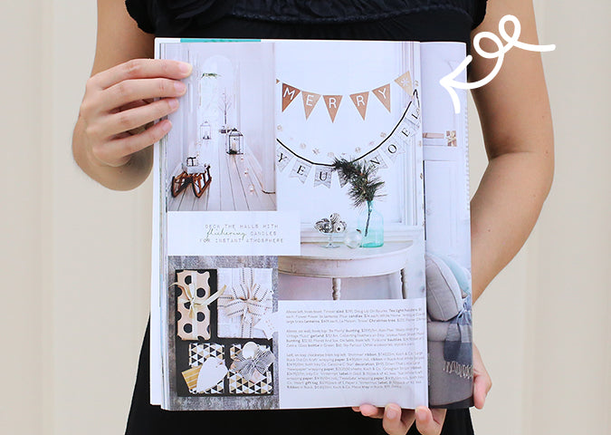 Alex Mae Glitter Bunting in Home Beautiful Magazine, December 2014