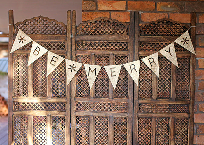 Alex Mae 'Be Merry' Glitter Bunting