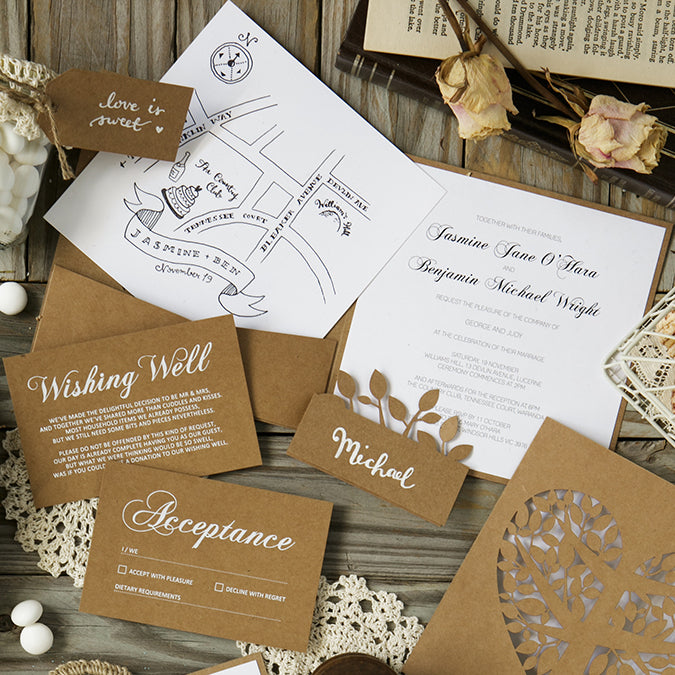 Alex Mae Wedding Invitation