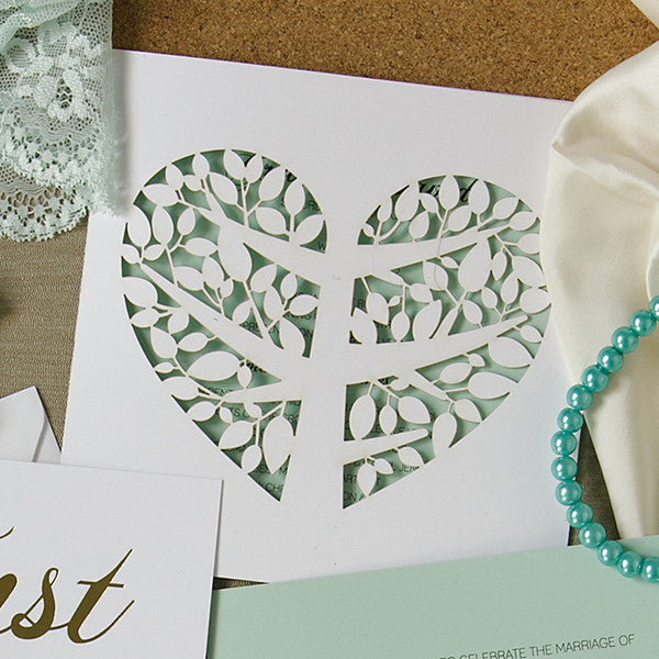 'Tree of Love' Laser-cut White, DIY Cards, 50pk