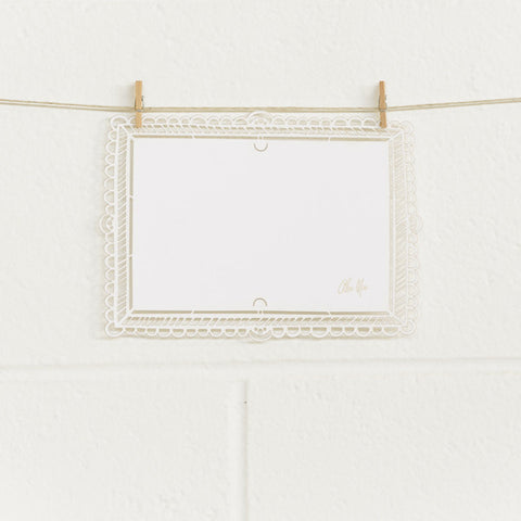 'Scalloped Frame' Laser-cut White, DIY Cards, 10pk