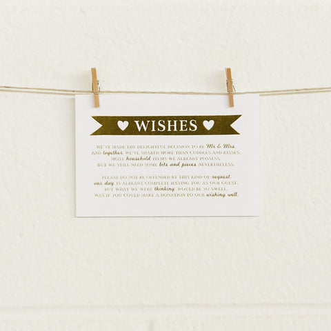 'Boy Meets Girl' Gold Foil on White, Wishing Well Cards, 10pk