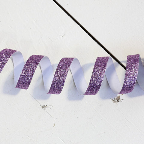 Orchid Glitter Tape, 15mm x 5 metres