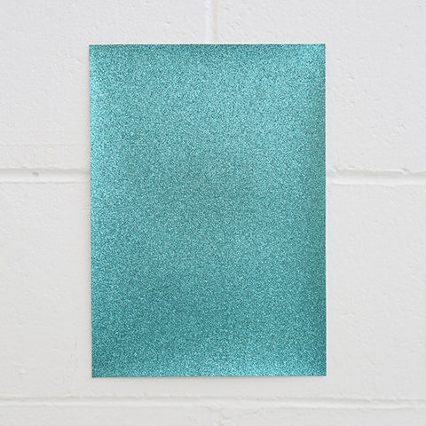 Adhesive Glitter Board, A4 Turquoise - 50pk