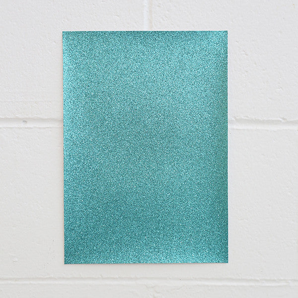 Adhesive Glitter Board, A4 Turquoise, 5pk