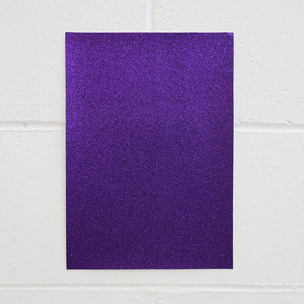 Adhesive Glitter Board, A4 Violet, 5pk