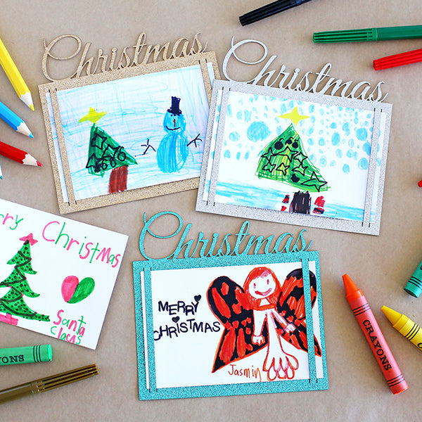 Glitter Cards + Envelopes : Christmas : Turquoise [8pk]