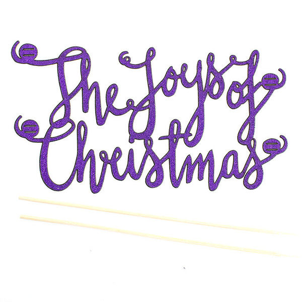 Glitter Topper : The Joys of Christmas : Violet