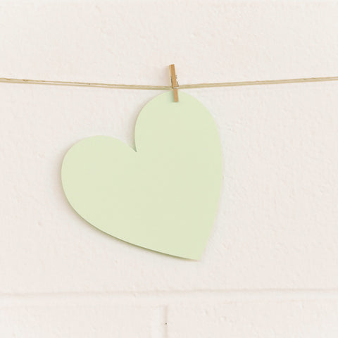 Paper Hearts, Pale Green Large, 100pk