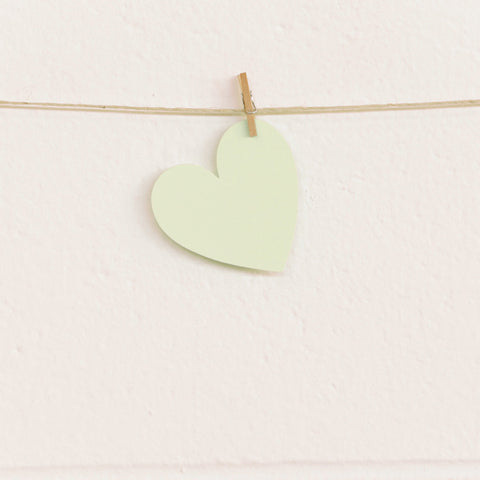 Paper Hearts, Pale Green Small, 100pk