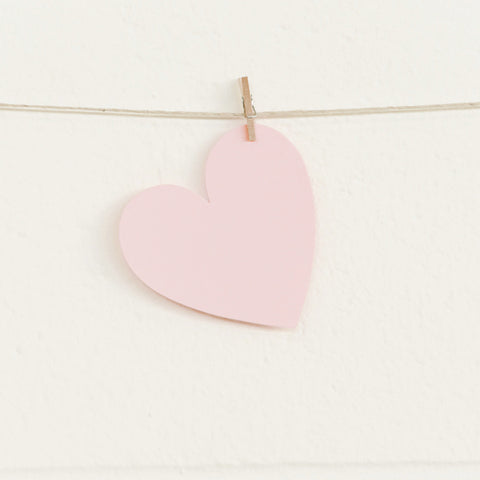 Paper Hearts, Pale Pink Medium, 100pk