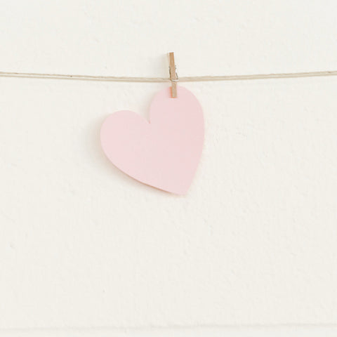 Paper Hearts, Pale Pink Small, 100pk