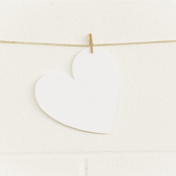 Paper Hearts, White Large, 20pk