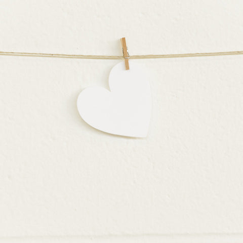 Paper Hearts, White Small, 20pk