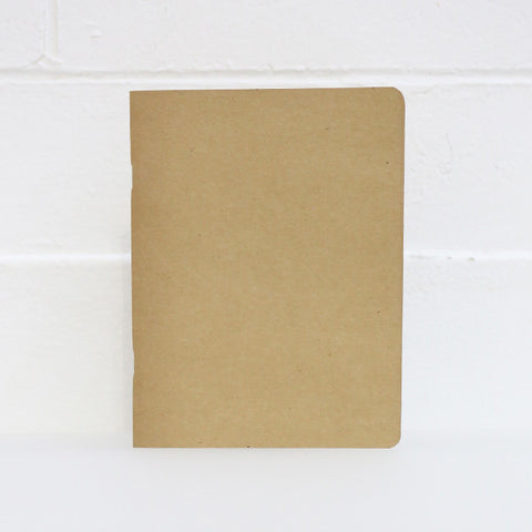 Kraft Notebook, Lined 48 Pages